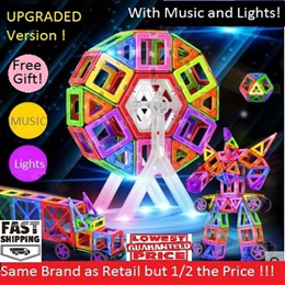 Magnetic Toys/ UPGRADED Version with Lights and sound/ALL package and manual in ENGLISH/European Set