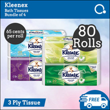[Kimberly Clark] Kleenex 3-ply Bath Tissue 80 rolls - LOWEST PRICE GUARANTEE. FREE SHIPPING