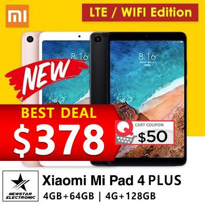 [GROUPBUY]Latest Xiaomi Mi Pad 4 *Mi Pad 4 PLUS * WIFI/LTE * 4GB+64GB *  6000 mAh battery