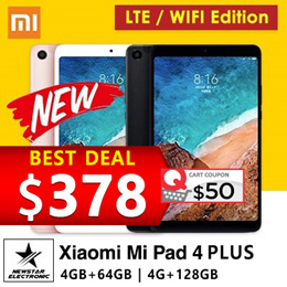 [GROUPBUY]Latest Xiaomi Mi Pad 4 *Mi Pad 4 PLUS *  WIFI/LTE * 4GB+64GB * 6000 mAh battery