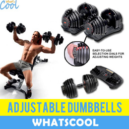 Adjustable Dumbbell 52lbs weights Sold As A Pair Premium Workout Bench Barbell