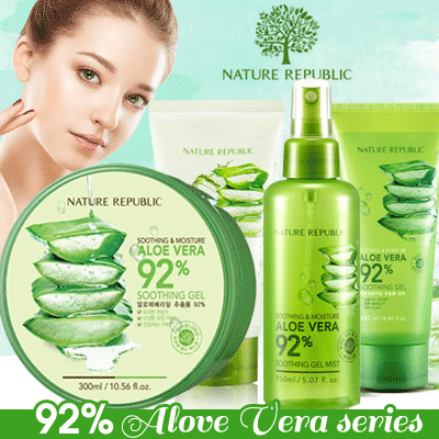 PUASA MUKA KUSAM....PAKEIN FACE MIST DARI NATURE REPUBLIC Aloe Vera series..FEEL FRESH :) Deals for only Rp100.000 instead of Rp100.000