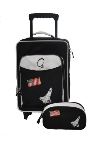 9a405b98ff03 Obersee Kids Luggage and Toiletry Bag Set, Space
