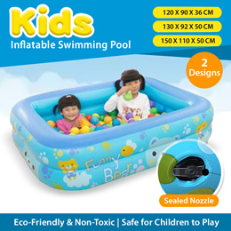 120/130/150cm Kids Inflatable Swimming Pool Children Bathing Tub Home Use Paddling Pool Garden