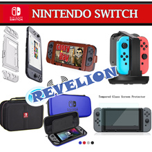 Nintendo Switch Case Pouch Bag Tempered Glass Screen Protector Charging Dock ★NEW★ [Stocks in SG!]