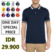 [ONE DAY SPECIAL PRICE] TWO TONES POLO SHIRT / KAOS PRIA POLO / KAOS POLO / KAOS KERAH