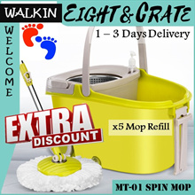🇸🇬[Magic Spin Mop]🇸🇬 Spin Dry Mop Set/ Mop Accessories/ Spray-Mop