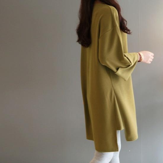 ガールズデイリーレヴィの中ロールアップワンピース 綿ワンピース/ 韓国ファッション