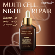 【Secret Key HQ Direct Operation】 Multi Cell Night Repair Ampoule 50ml / Intensive Recovery Ampoule