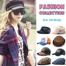 ★☆Raon Style★☆ 2017 New Korea Fashion Newsboy Hat Mesh Truckers Army Cap Plus Size hat SnapBack