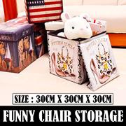 Turun Harga Funny Chair Storage Tempat Penyimpanan Serbaguna