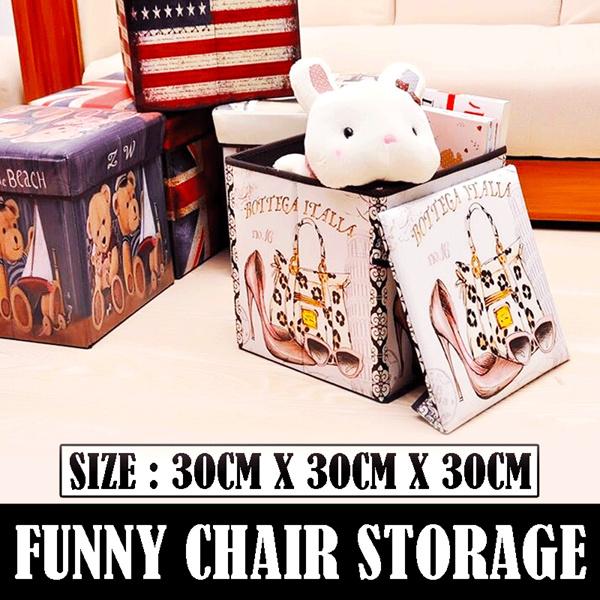 [Promo Natal dan Tahun Baru] Funny Chair Storage Tempat Penyimpanan Serbaguna Deals for only Rp75.000 instead of Rp75.000