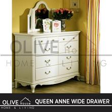 Queen Anne Lemari Pakaian / Wide Drawer
