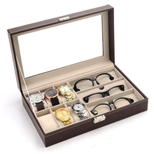 Sunglass Spectacles Box Eyeglass Glasses Display Case Storage Organizer Collector Box watch box
