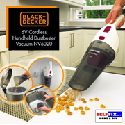 Black and Decker 6V Cordless Handheld Dustbuster Vacuum NV6020