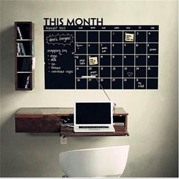 Chalkboard calendar Vinyl Wall Decal Planner mural wallpaper vinyl Wall Stickers