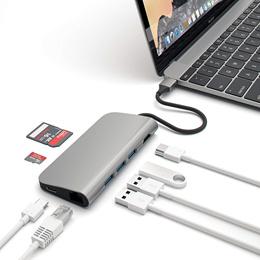 ★8불 추가할인★ SATECHI 사테치 알루미늄 멀티 포트 어댑터 4K HDMI 타입C USB / 노마진 최저가! / 골드 그레이 실버 中 택1