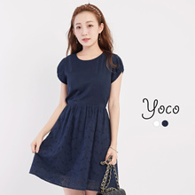 YOCO - Laced Dress with Cut-out-171439