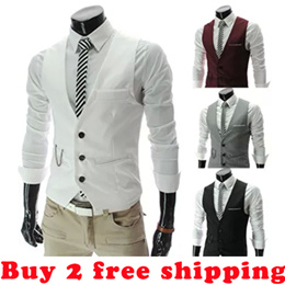 [New products listed]Spring and summer new han edition mens vest/man suit vest/British male suit vest/Buy 2 free shipping
