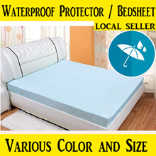 [Local Seller] Waterproof Bedsheet (Fitted) / Waterproof Mattress Protector