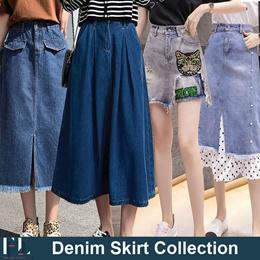 ★2021 New Arrivals Denim Skirt★ Design by Korea  / Short / Jeans / Skirt  / Trousers / Mini Skirt