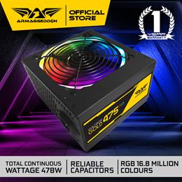 GAMING PSU | 475 RGB | 475W PURE POWER WITH RGB COLOR FX | 1-YR LIMITED WARRANTY | LOCAL STOCKS!