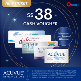 NEW! ACUVUE® $38 CASH VOUCHER NOW AT $8 ONLY