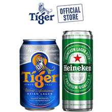 Tiger Lager Beer 320ml x 24 Cans OR Heineken Lager Beer 330ml x 24 Cans