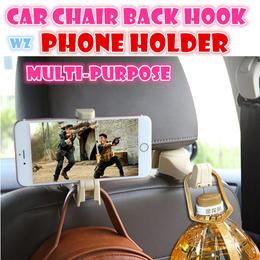 2 pcs Car Hanger Car seat hook holder with phone holder car accessories Car organize Multi-purpose