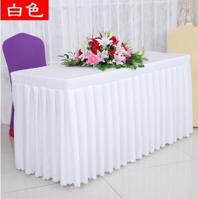 Qoo Conference Tablecloths Cloth Cold Catering Table Skirts - Conference table skirts