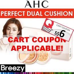 BREEZY ★ [AHC] Perfect Dual Cover Cushion Glam Pink Set / Cover Balm + Cushion