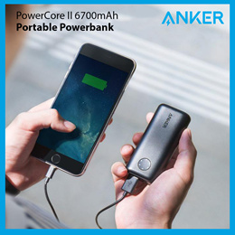 Anker PowerCore II 6700mAh Pocket Size Charger 100% Authentic