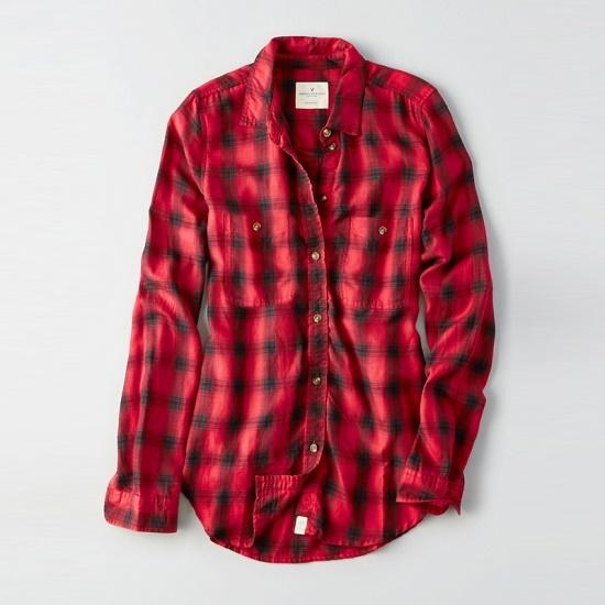 アメリカンイーグル女性マルチチェックパターンシャツ、ワンピースAFMR3ES1640A 600AFMR 面ワンピース/ 韓国ファッション