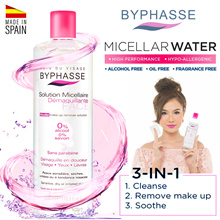 ❤ FREE SHIPPING! ❤ BYPHASSE 3-in-1 Micellar Makeup Remover Cleansers. For sensitive skin.