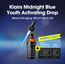 [KLAIRS] MIDNIGHT BLUE YOUTH ACTIVATING DROP +  2 Free Blue Cream Sample