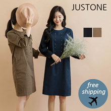 [JUSTONE❤] Wind Double One-piece / Free Shipping / Korean Fashion