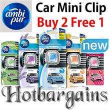 Ambi Pur Car Mini Clip AC Vent Air Freshener (2ml) Lasts up to 30 days