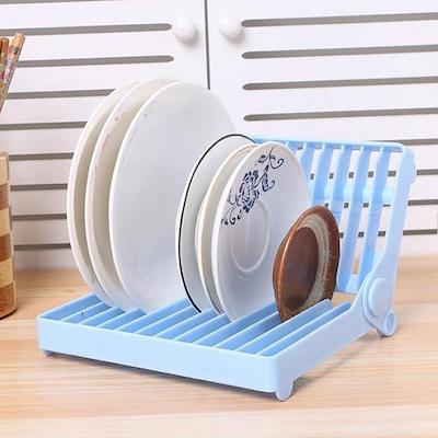 Plastic Dish Plate Utensil Rack Kitchen Sink Drainer Draining Holder  Collapsible Drain Dish Rack Dis