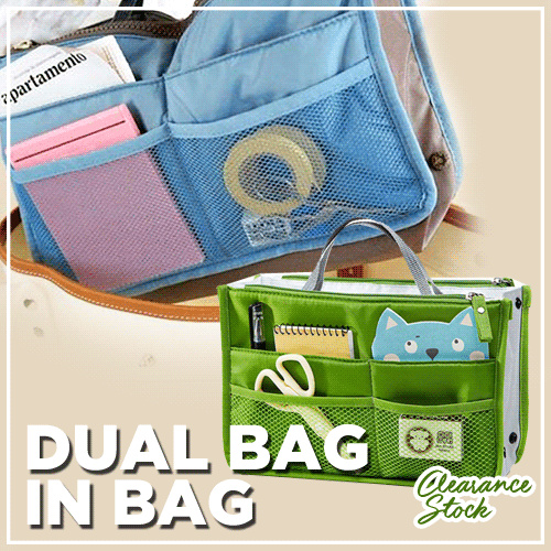 OG030 Dual Bag In Bag Organizer Korean Travel Tas Dalam Tas Dompet Deals for only Rp80.000 instead of Rp80.000