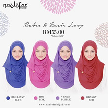 New Stock*Lasted Collection*Naelofar Tudung* Hijab* Shawl*Square* Instant