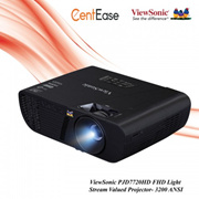 ViewSonic PJD7720HD FHD Light Stream Valued Projector- 3200 ANSI