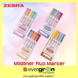 ZEBRA Mildlinear 5 Colors/set Highlighters.(Any 2 sets for $8.50)