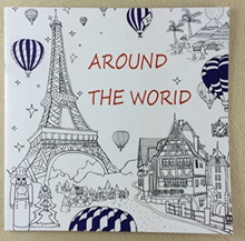 Around The World Coloring Book For Children Adult Graffiti Painting Drawing Book Secret Garden 25CM