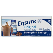 Ensure Original Nutrition Chocolate Mill Replacement Shake 9g Protein 237ml x 24 Packs