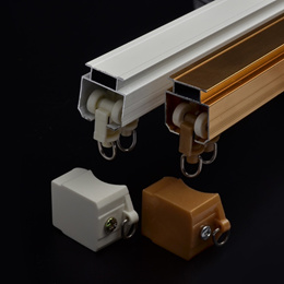 Track mute special curtain rods curtain track straight track pulleys aluminum top track window track
