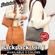 BEST SELLER! Handbag Serut 2 IN 1 - BACKPACK 3 IN 1 - Tas Wanita - 3 Colour