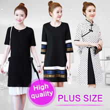 【Jan 31th Update】2019 new arrival【BIG PROMO】 PLUS SIZE S~7XL FASHION LADY DRESS OL work dress blouse