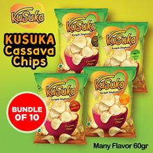 [Bundle of 10] KUSUKA Cassava Chips_Many Flavor 60gr