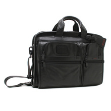 Tumi Bag TUMI 96108 D 2 Alpha LEATHER BUSINESS ORGANIZER PORTFOLIO BRIEF Men's Business Bag BLACK