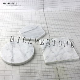 Saucer table white natural marble coaster tray square mat fashion bag-mail